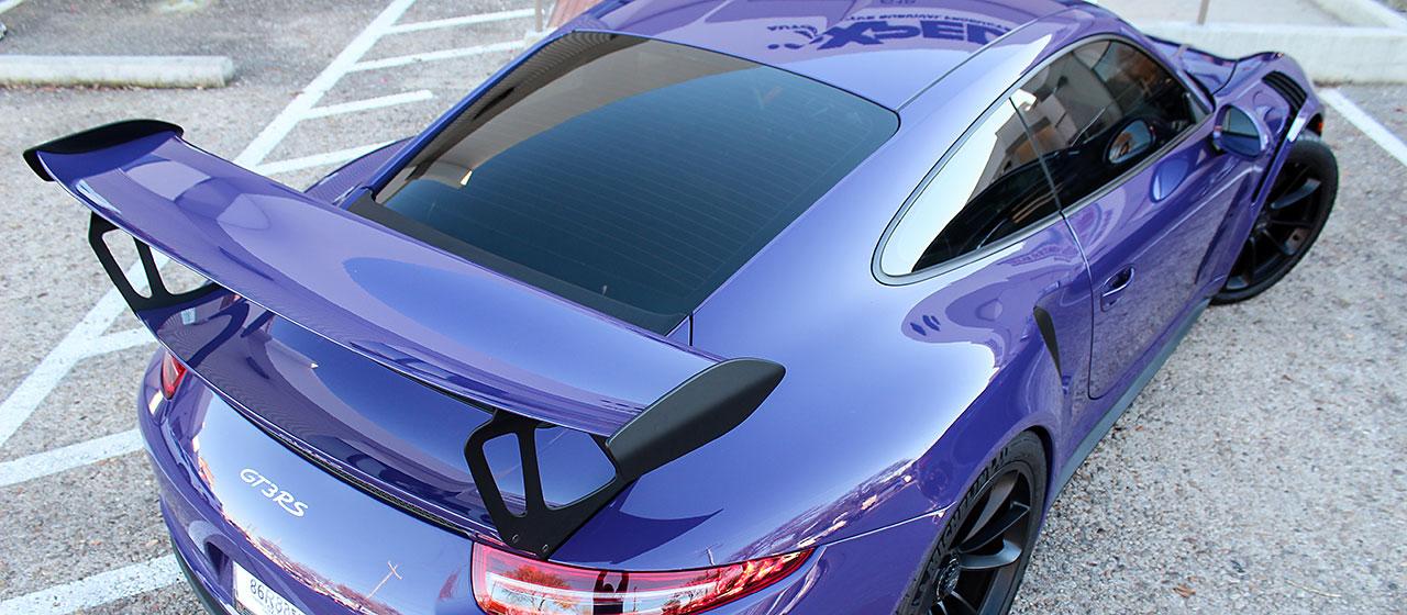 XPEL Porsche GT3RS Window Tint Film