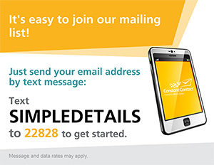 Text to Join Simple Details Mailing List