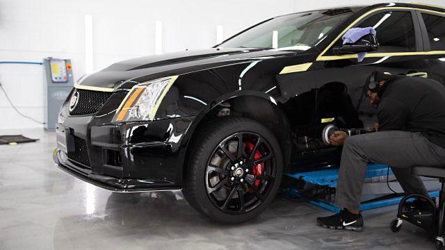 Cadillac CTS V Correcting Paint