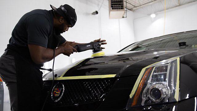 Cadillac CTS V Paint Buffing