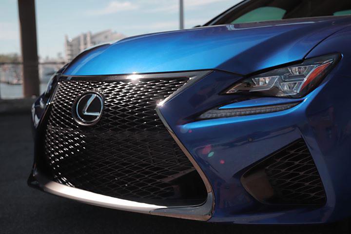 Lexus RC F Detailing Front View