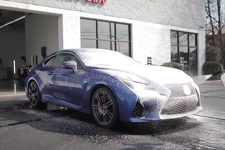 Lexus RC F Foam Bath
