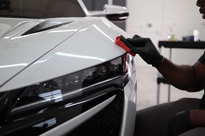 Acura NSX Paint Applying Ceramic Coating