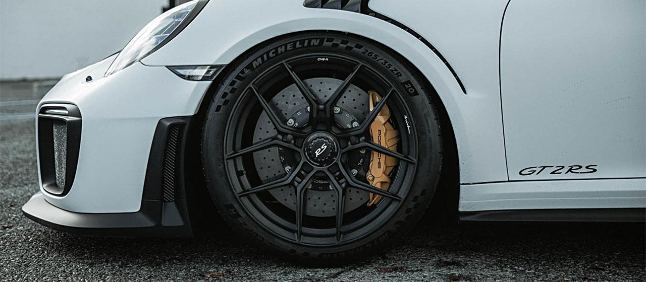 White Porsche GT2 RS Brixton Forged Wheels